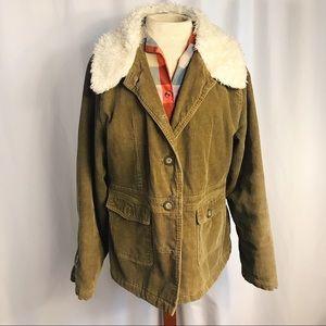 Vintage Sanoma Army Green Fur Collar Jacket